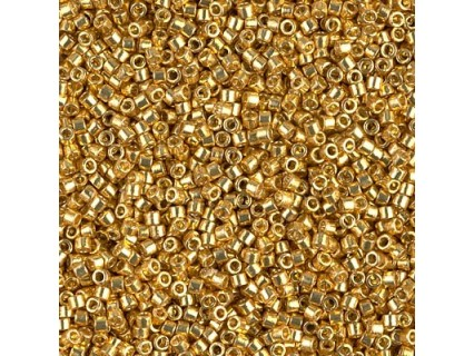 Delica DB1832 - Duracoat Galvanized Gold - margele Miyuki Delica11 - 5g