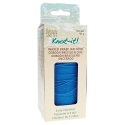 Knot-it! Sapphire - fir poliester cerat brazilia 1mm - bobina 144m