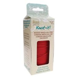 Knot-it! Red - fir poliester cerat brazilia 1mm - bobina 144m