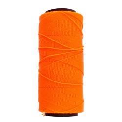 Knot-it! Neon Lt Orange - fir poliester cerat brazilia 1mm - bobina 144m