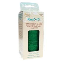 Knot-it! Grass Green - fir poliester cerat brazilia 1mm - bobina 144m
