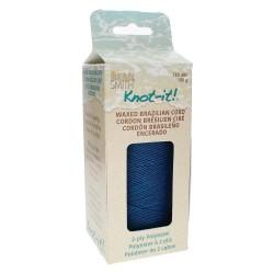 Knot-it! Deep Ocean - fir poliester cerat brazilia 1mm - bobina 144m