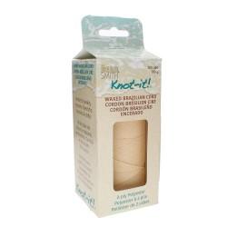 Knot-it! Cream - fir poliester cerat brazilia 1mm - bobina 144m
