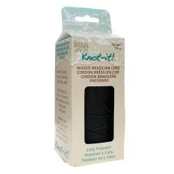 Knot-it! Black - fir poliester cerat brazilia 1mm - bobina 144m