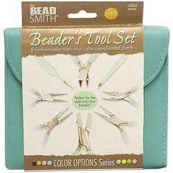 Trusa clesti si pensete Beadsmith Fashion Color - Aqua PLFAS05