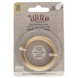 German-style Wire 20 Gauge (0.8mm) Gold Color - sarma modelaj aurie - 6m