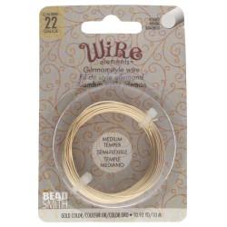 German-style Wire 22 Gauge (0.6mm) Gold Color - sarma modelaj aurie - 10m