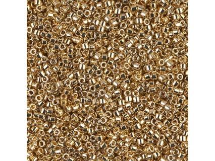 Delica DB34 - 24K Light Gold Plated - margele Miyuki Delica11 - 5g