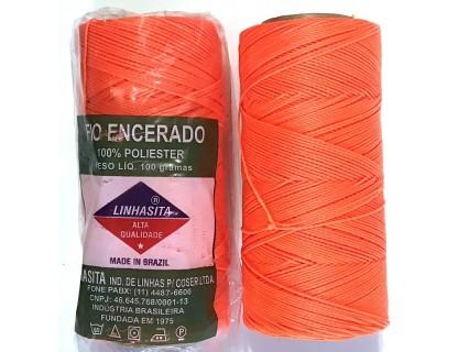 Linhasita 0.75mm Neon Orange (393) - fir cerat - bobina ~228m