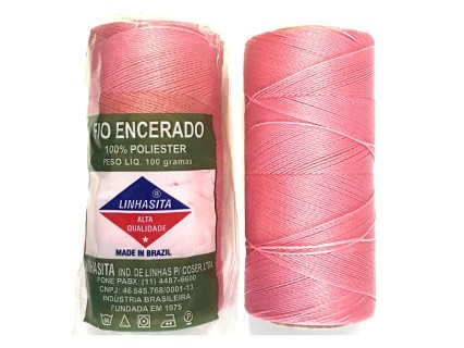 Linhasita 0.5mm Candy Pink (629) - fir poliester cerat - bobina ~335m