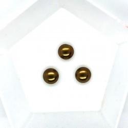 Cabochon 8mm perla sticla Cehia - GPC01 Mocha - 1 buc