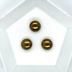Cabochon 10mm perla sticla Cehia - GPC02 Mocha - 1 buc