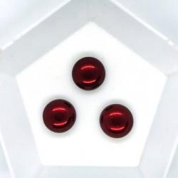 Cabochon 12mm perla sticla Cehia - GPC03 Brick - 1 buc