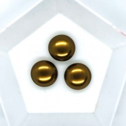 Cabochon 14mm perla sticla Cehia - GPC04 Mocha - 1 buc