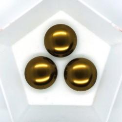 Cabochon 18mm perla sticla Cehia - GPC05 Mocha - 1 buc