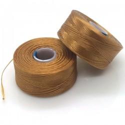 S-lon AA gold | auriu, fir nylon, bobina 75 yards | 68 metrii