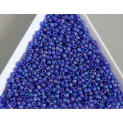 Toho R11-87F, Trans-Rainbow-Frosted Dark Sapphire, 10g
