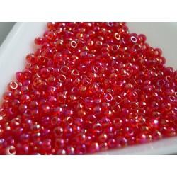 Toho R11-165B, Trans-Rainbow Siam Ruby, 10g