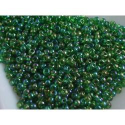 Toho R11-167B, Trans-Rainbow Grass Green, 10g
