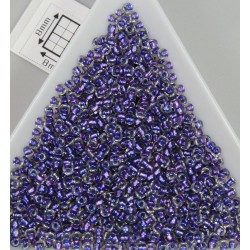 Toho R11-265, Inside-Color Rainbow Crystal/Metallic Purple Lined, 10g