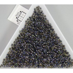 Toho R11-266, Inside-Color Gold Luster Crystal/Opaque Gray, 10g
