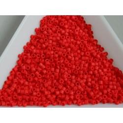 Delica DB757 - Matte Opaque Vermillion Red - margele 11/0 Miyuki Delica, 5g