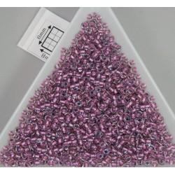Toho R11-267, Inside-Color Crystal/Rose Gold Lined, 10g