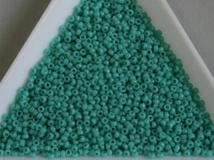 MR15-412 margele Miyuki 15/0 - Opaque Turquoise Green, 5g