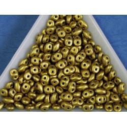 Margele sticla Cehia forma superduo 2.5 x 3 x 5 mm culoare matte metalic aztec gold (5 gr) T80
