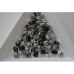 Margele sticla Cehia forma superduo 2.5 x 3 x 5 mm culoare crystal heliotrope (5 gr) T83