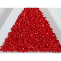 Delica DB723 - Opaque Red, margele Miyuki Delica11 - 5g