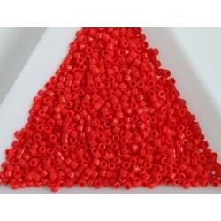 Delica DB727 - Opaque Vermillion Red, margele Miyuki Delica11 - 5g