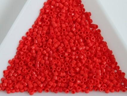Delica DB727 - Opaque Vermillion Red, margele 11/0 Miyuki Delica, 5g