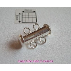 Slide clasp 2 strands - inchizatoare culisanta multi-sir (2 randuri) SP, 1 buc.