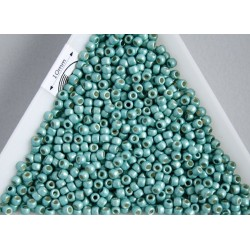 Toho R11-PF561F, Permanent Finish - Matte Galvanized Green Teal, 5g