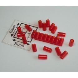 TB01-5B margele Toho tub 3mm, rosu transparent, 10g