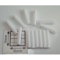 TB03-41 margele Toho tub 9mm, alb opac lucios, 10g