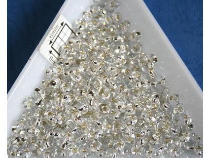 M03-21 margele Toho magatama 3mm, silver lined crystal, 10g