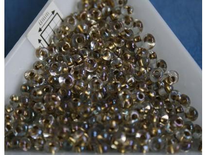 M03-262 margele Toho magatama 3mm, inside color crystal/gold lined, 10g