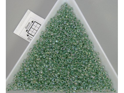 Toho R11-699, Inside-Color Rainbow Crystal/Shamrock Lined, 10g
