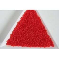 Toho R11-5F, Transparent-Frosted Lt Siam Ruby, 10g
