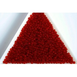 Toho R11-5CF, Transparent-Frosted Ruby, 10g