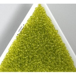 Toho R11-4, Transparent Lime Green, 10g