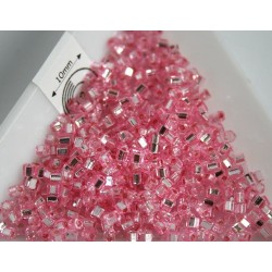 C01-38 margele Toho cub 1.5mm, silver lined pink, 5g