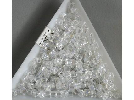 C03-161 margele Toho cub 3mm, transparent rainbow crystal, 5g
