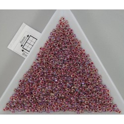 Toho R11-771, Inside-Color Rainbow Crystal/Strawberry Lined, 10g