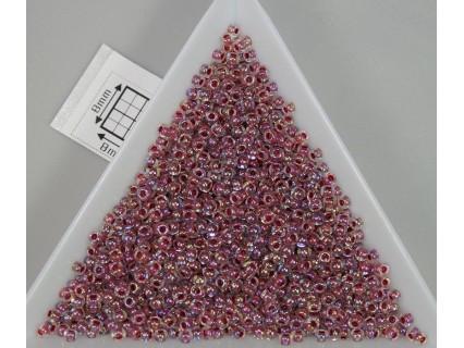Toho R11-771, Inside-Color Rainbow Crystal/Strawberry Lined, 10g