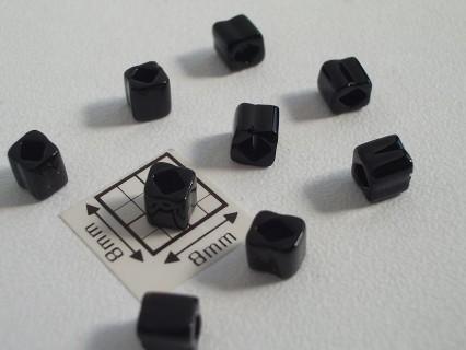 C04-49 margele TOHO cub 4mm, opaque jet, 10g