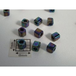 C04-86 margele TOHO cub 4mm, iris metalic, 10g