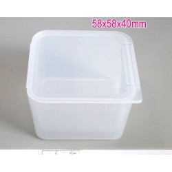 Storage box 58x58x40mm - cutie plastic transparent, 1buc.